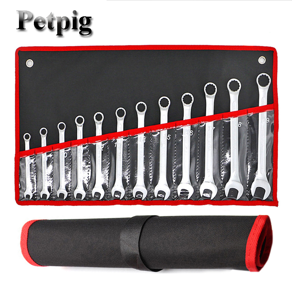 Petpig Car Repair Set Wrenches 7/12Pcs Key Spanners Woodworking Machinery Wrench Sets  Hand Tools Wrenches Keys Set