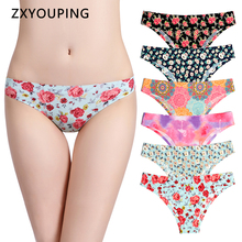 Print Mesh Breathable Seamless Panties Women Underwear Sexy Thongs Female Lingerie Tangas XS L US Size Briefs 12 Colors Style
