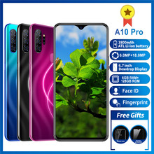 "Mobile phone A10pro Smartphone MTK6595 phone Octa core Iphone 4G LTE 6GB+128GB iphones 6MP+18MP 6.7""HD 720*1560 phones 3800mAh(China)"