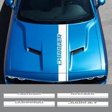 Capa do carro adesivo para dodge avenger calibre caravan challenger carregador dardo durango viagem nitro ram acessórios capô decalque