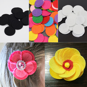 200Pcs/lot Non-Woven Felt Fabric Eco-friendly Round Felt Patch for DIY Handcraft Kids Gift Doll Hair Clip Sewing Fabric Supplies(China)