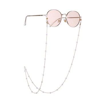 Moda Pearl okulary łańcuch kobiety antypoślizgowe sznurek do okularów uchwyt okulary smycz naszyjnik smycz na szyje liny