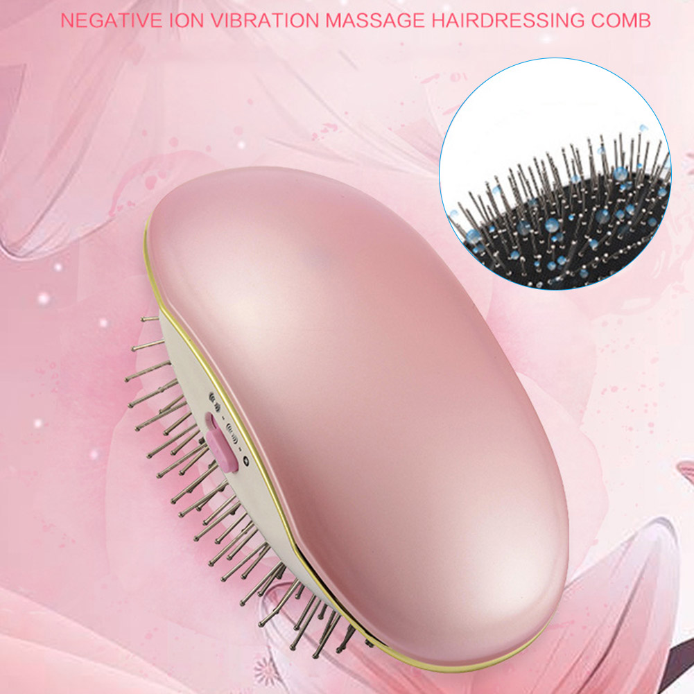 New Hot Portable Electric Ionic Hairbrush Takeout Mini Small Hair Brush Comb Massage Home Travel Using SMR88