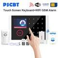 PS108 Touch Screen Panel GSM WIFI Alarm System Kit Pet Immunität Sensor Detektor GSM Dialing für Business Hause Alarme Sicherheit