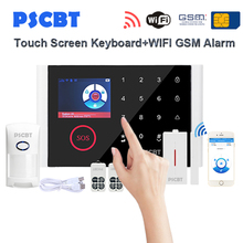 PS108 Touch Screen Panel GSM WIFI Alarm System Kit Pet Immunity Sensor Detector GSM Dialing for Business Home Alarms Security