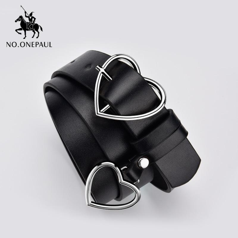 NO.ONEPAUL Belt Fashion Women Female Belt Genuine Belt Pin Buckles Fancy Vintage For Jeans Leather Belts For Women Female