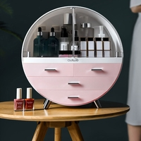 Cosmetic Storage Box Desktop Dust Net finishing Acrylic Dressing Table Lipstick Skin Care Rack Wedding Birthday Gift Makeup