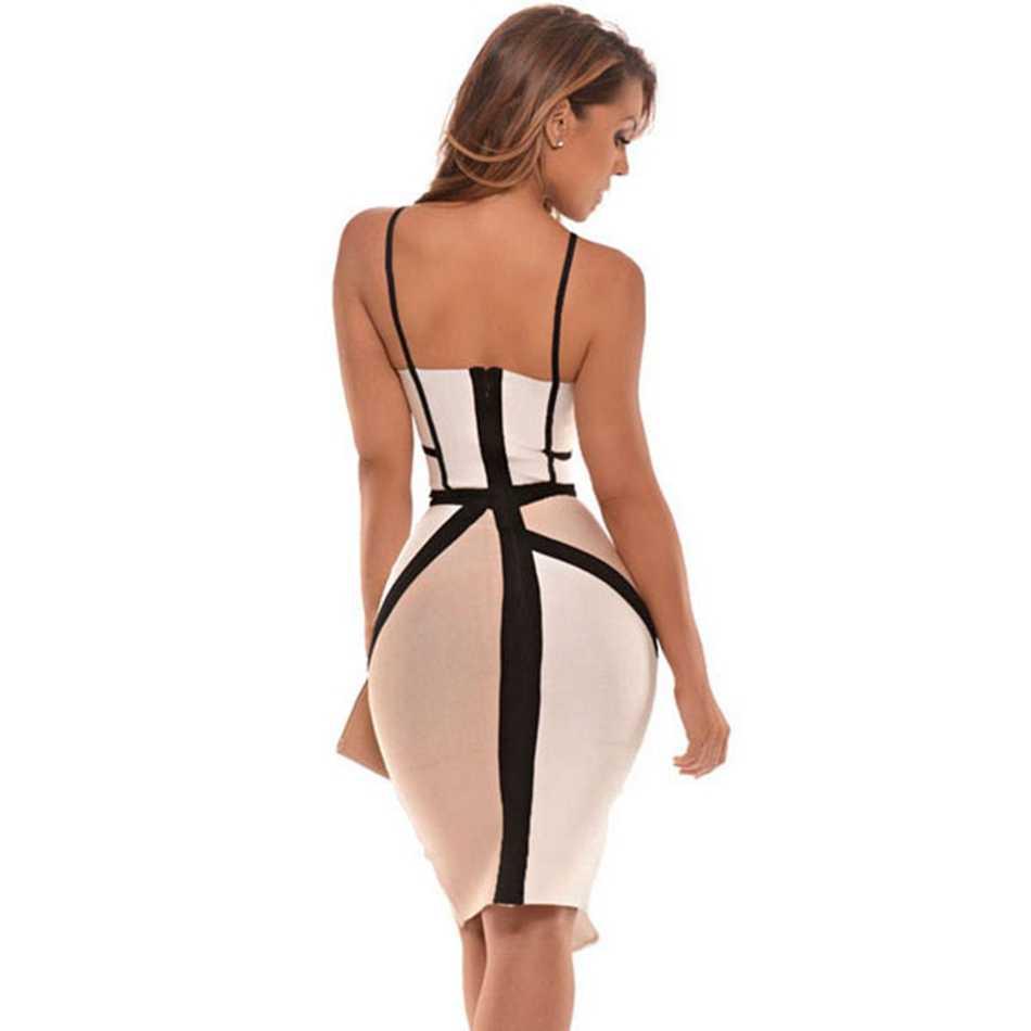 Gợi Cảm Spaghetti Dây Miếng Dán Cường Lực Băng Đô Đầm Lưới Hoa Nữ Quai Ngang Đầu Gối Chiều Dài Váy Đảng Câu Lạc Bộ Bodycons Chia Khóa Kéo Đầm Vestido