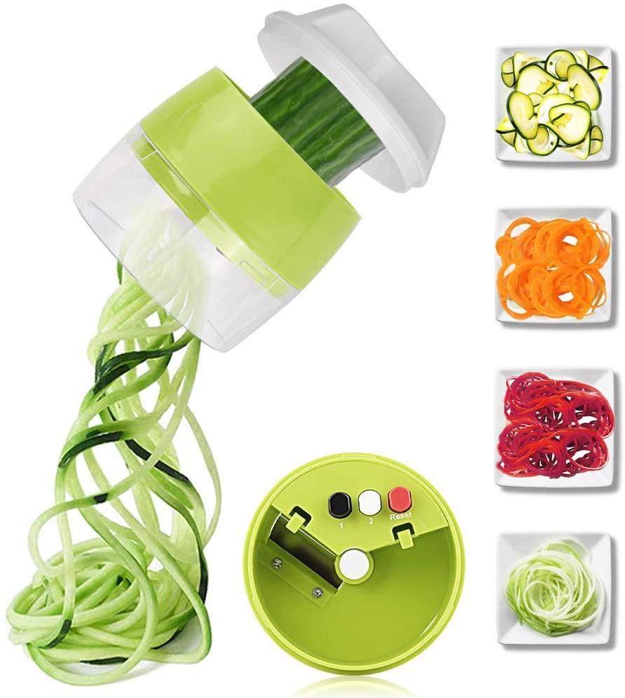 4 в 1 ручной спиральный измельчитель овощей фруктов настраиваемая спиральная Терка резак для салата инструменты лапша из цуккини для изгото...