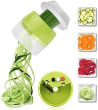 4 em 1 handheld spiralizer vegetal frutas slicer espiral ajustável ralador cortador ferramentas de salada abobrinha macarrão fabricante espaguete