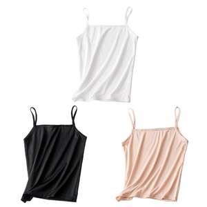 Vest Tank-Top Spaghetti-Strap Basic Women Summer Sleeveless Camisole Girls Off-Shoulder