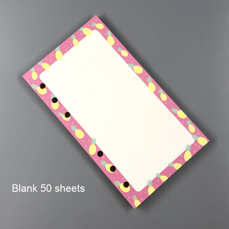 Cute Weekly Diary Journal Filler Paper for  A5 A6 A7 Spiral Notebooks Stationery Accessories 4