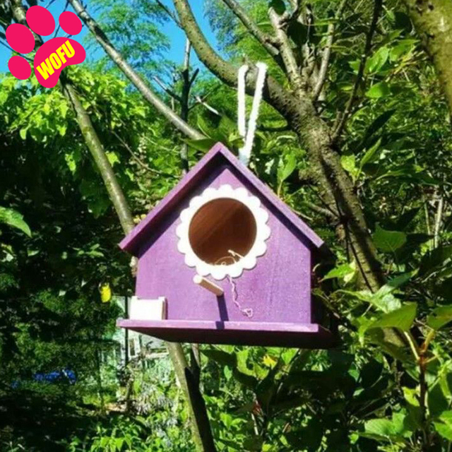 """""""We Love Our Pets"""" Wooden Outdoor Bird Cottage   5"""