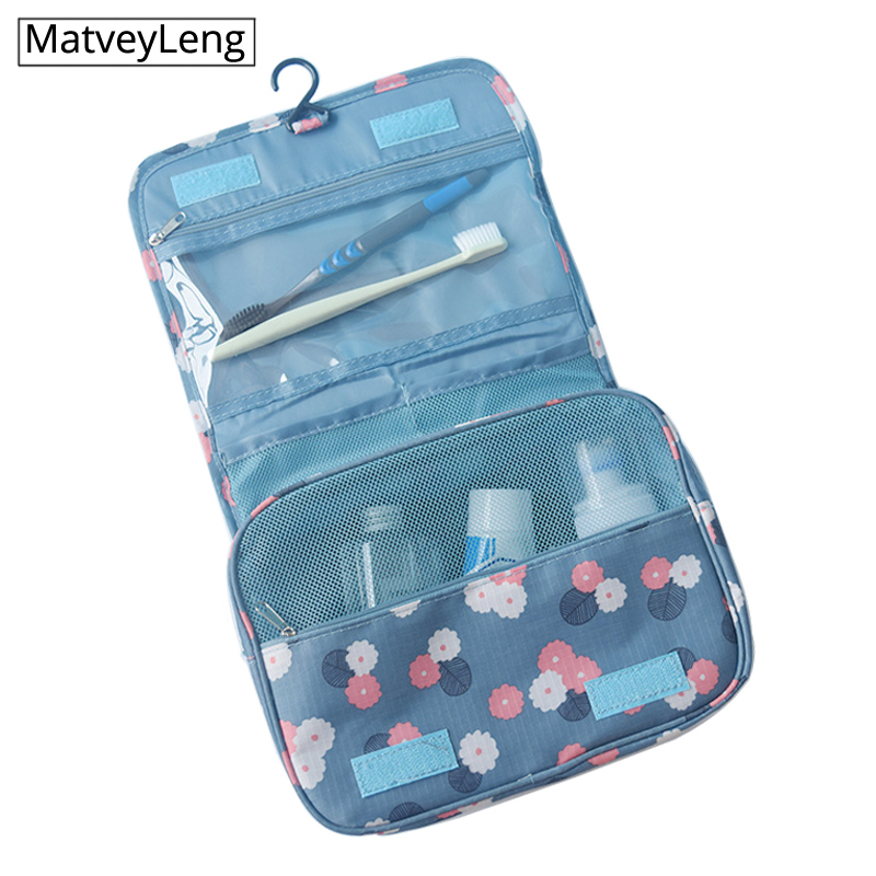 Waterproof Fashion Packing Cubes Travel Large Capacity Storage Bag Portable Hook Wash Cosmetic Bag Fashion Travel Accessories