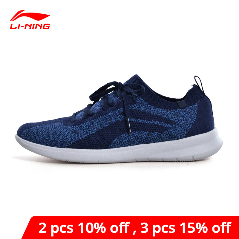 Li-Ning <font><b>Men</b></font> 3KM KNIT Lifestyle <font><b>Shoes</b></font> Breathable Leisure Light <font><b>LiNing</b></font> li ning Comfort Sport <font><b>Shoes</b></font> Classic Sneakers AGCN207 YXB256 image