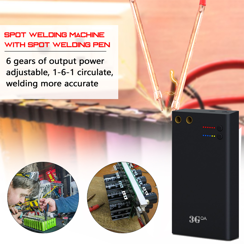 Gears Machine Welding Diy Interface Pens Spot Welder Type With C Kit Spot Machine Tool Release Quick Mini Adjustable Portable 6