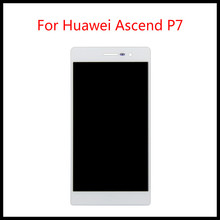цена на 100% Brand New For Huawei Ascend P7 Touch Screen Digitizer glass and Lcd Display Assembly with free tools
