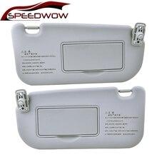 SPEEDWOW LHD автомобиль солнцезащитный козырек солнцезащитный козырек тень щит доска левый правый с зеркалом для Киа Спортейдж 2004 2005 2006 2007 2008 2009