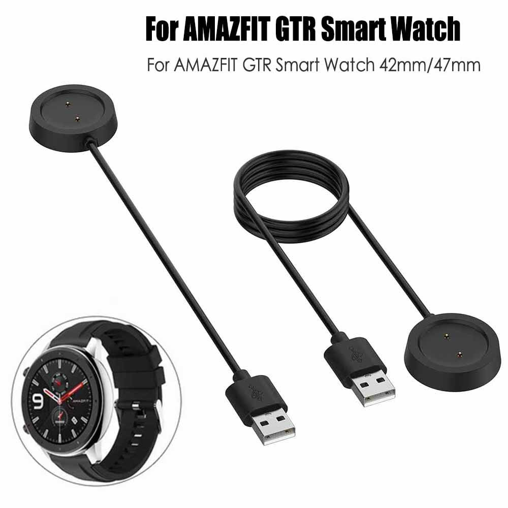 Replacement USB Magnetic Charging Dock Cable For Xiaomi Huami Amazfit GTR 42mm  47mm Watch Cord Charger Power Adapt