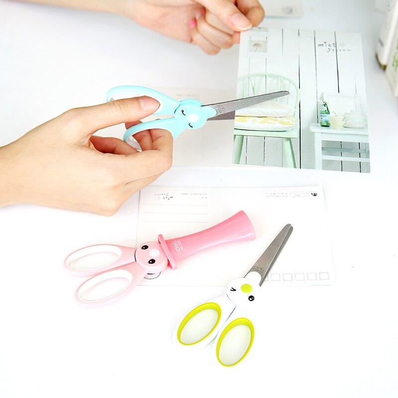 Cute Korean Mini Kids Paper Small Cutting Craft Children Kawaii Portable Scissors Stationery