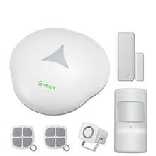 цена на Fuers S3 GSM Alarm System Smart Home Security APP Remote Control Buglar Alarm With 433MHZ Wireless Motion Detector Door Sensor
