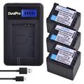 3PC 2000mAh BP-820 BP-820 Batterie + Chargeur LCD pour Canon VIXIAGX10, HFG21, HFG30, HFG40, HFM30, HFM300, HFM301, HFM40, HFM41, HFM400, XA10