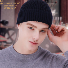 Beanies Hat Men Winter Thermal Knitted Hats Autumn Thicken 2019 New Skullies Male Headwear Dark Grey Navy Blue 3230