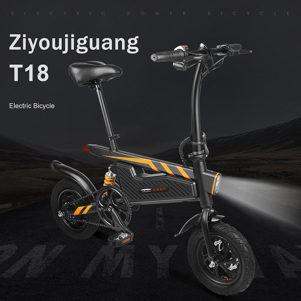 12 Inch Electric Bicycle Folding Power Assist Eletric Bicycle E Bike 250W Motor Brakes Foldable Electric Bike Outdoor Sports