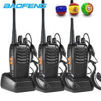 3 pçs baofeng bf 888 s rádio em dois sentidos BF-888S 6km walkie talkie 5 w portátil cb ham rádio handheld hf transceptor interfone bf888s