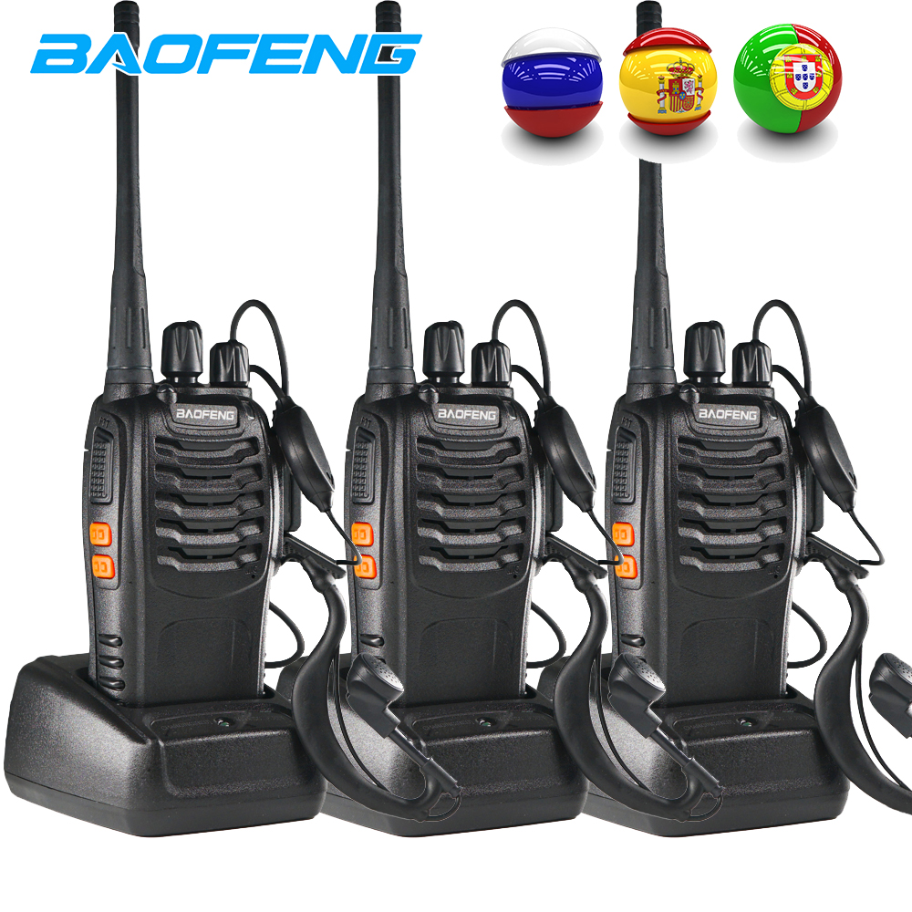 3PCS Baofeng BF 888S Two Way Radio BF-888S 6km Walkie Talkie 5W Portable CB Ham Radio Handheld HF Transceiver Interphone Bf888S