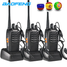 3PCS Baofeng BF 888S Two Way Radio BF-888S 6km Walkie Talkie 5W Portable CB Ham Radio Handheld HF Transceiver Interphone bf888S(China)