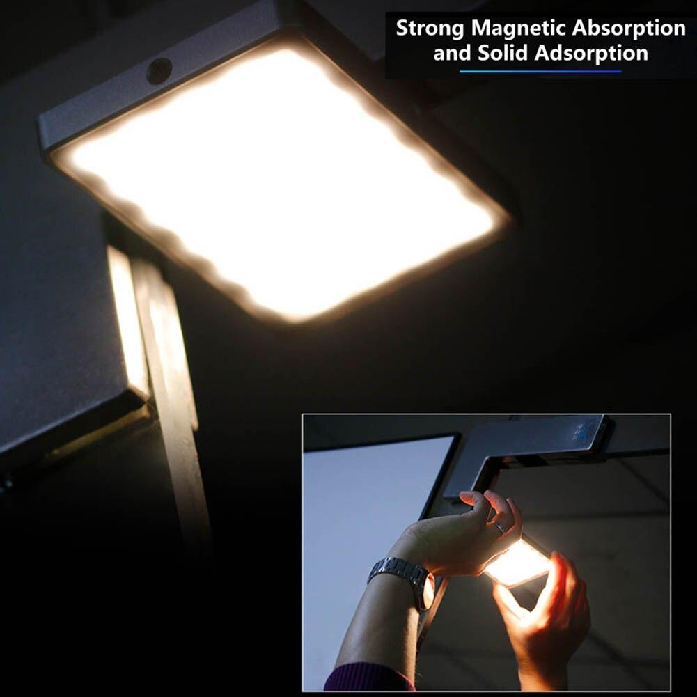 Mini téléphone lumière LED O LED écran 96 perles magnétique en alliage d'aluminium lampe Portable pour Selfie SP99