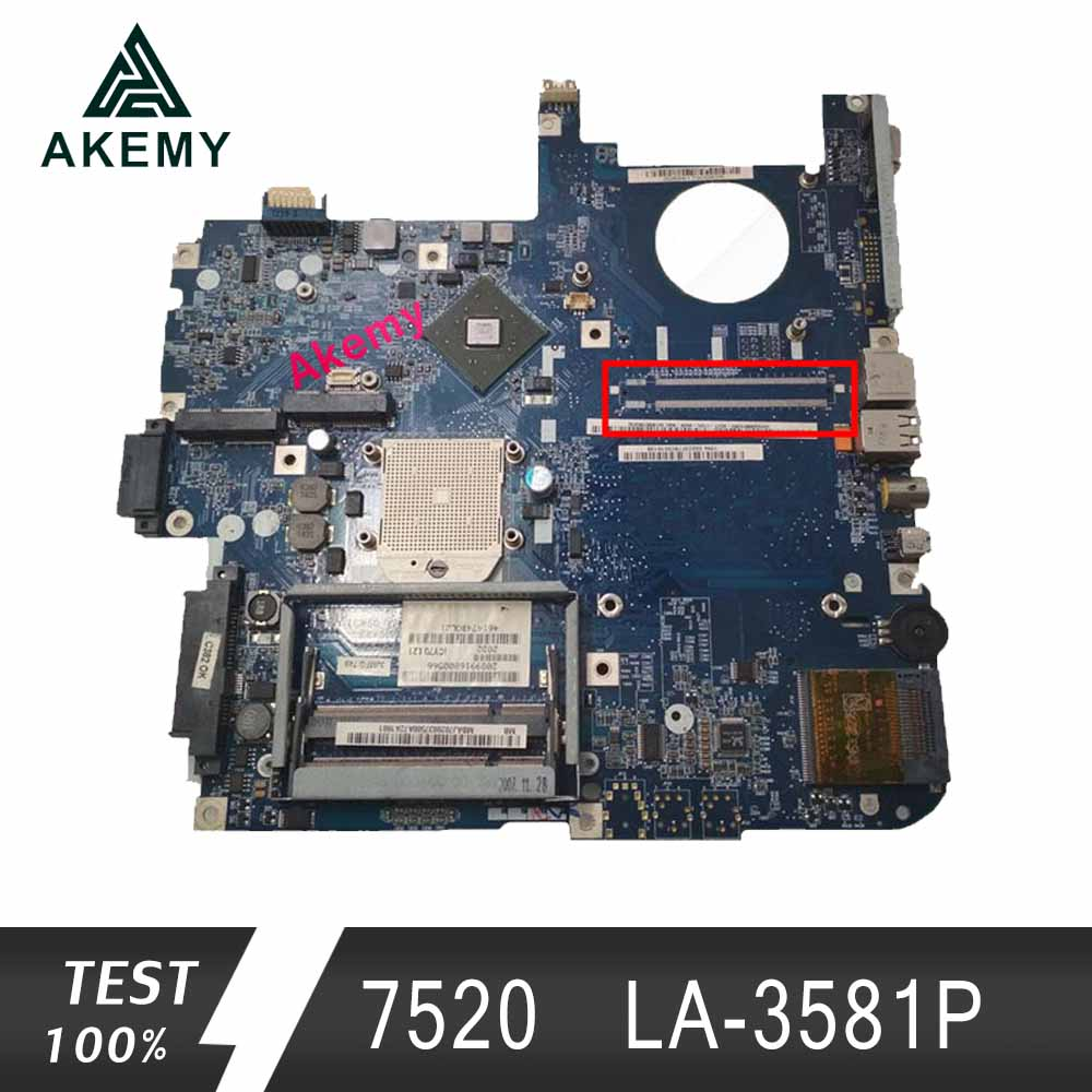 AKEMY FREE SHIPPING LA-3581P(ICW50) laptop motherboard for Acer 5520 5520G 7520 7520 <font><b>DDR2</b></font> full tested Mainboard image