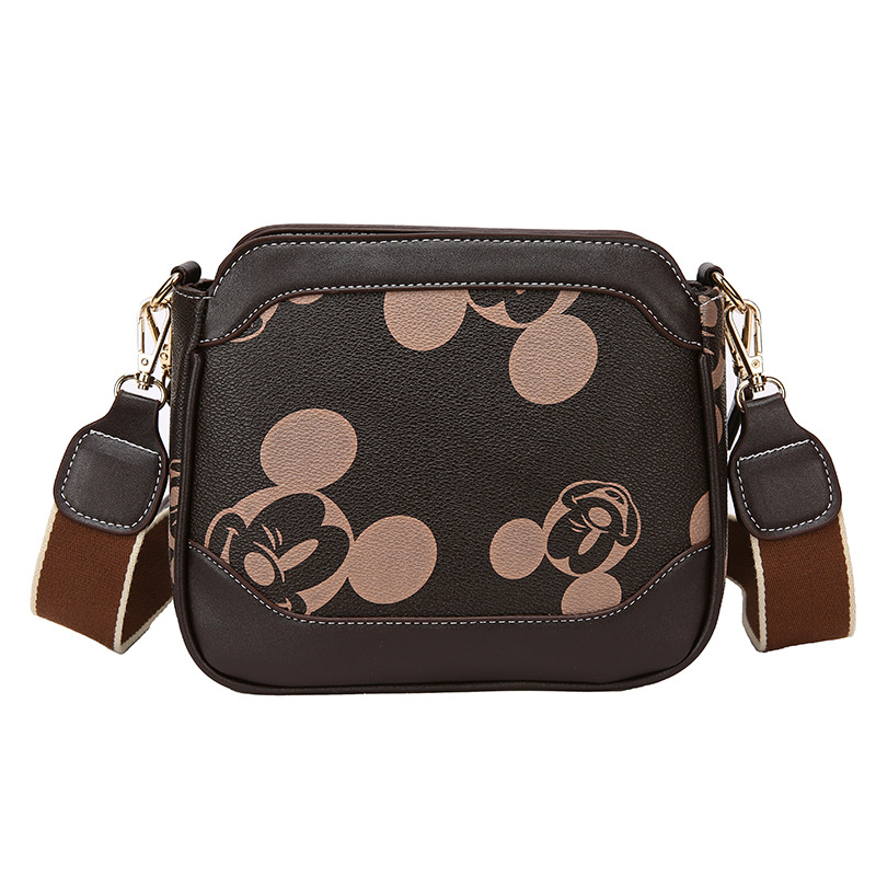 Disney Mickey Mouse Shoulder Messenger Bag Minnie Handbag Pu Lady Bag Women Shopping Bag Fashion Cartoon
