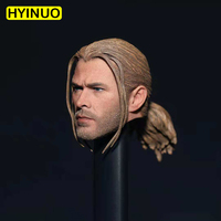 Custom 1/6 Scale male man boy head 1/6 The Thor Braid Head Sculpt Model PVC braid Head Model Toys Fit 12 Action Figure Body