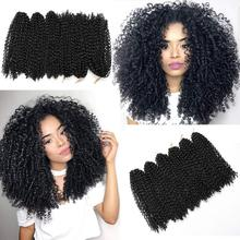 Ombre Hair Extensions Synthetic Marlybob Jerry Curl Jamaican Bounce Crochet Hair Afro Kinky Curly Crochet Braids Smart Braid cheap Low Temperature Fiber CN(Origin) Marley Braids 20strands pack