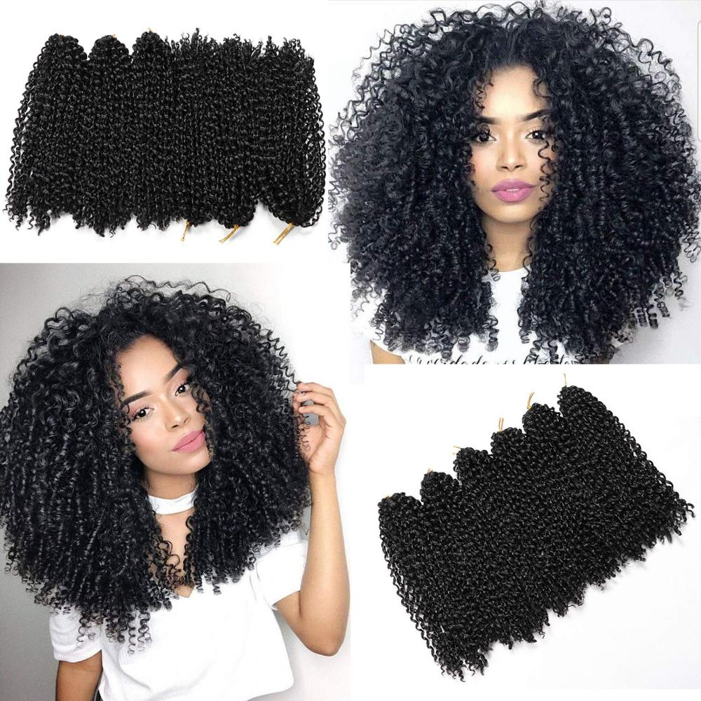 Ombre Hair Extensions Synthetic Marlybob Jerry Curl Jamaican Bounce Crochet Hair Afro Kinky Curly Crochet Braids Smart Braid