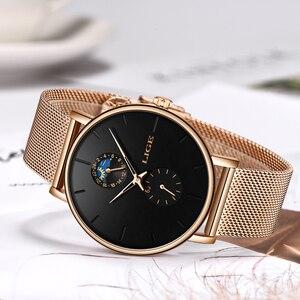 Image 5 - ליגע חדש נשים יוקרה מותג שעון פשוט קוורץ גברת עמיד למים שעוני יד נשי אופנה מזדמן שעונים שעון reloj mujer 2020