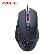 Rato do jogo com fio computador ergonômico mouse 8 botão 7200dpi usb gamer mause com luz de fundo óptica silencioso ratos para computador portátil