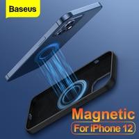Baseus-funda magnética para teléfono móvil, carcasa de silicona líquida a prueba de golpes para iPhone 12 Pro Max Mini