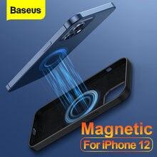Baseus Magnetische Telefon Fall Für iPhone 12 Pro Max Mini Stoßfest Flüssigkeit Silikon Zurück Abdeckung Für iPhone 12Pro 12Mini coque Shell