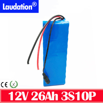 High Capacity 12v battery with bms 12V 26Ah Rechargeable Lithium Battery Pack for Hunting Xenon Fishing Lamp Outdoor Source  hot