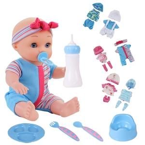 10 inch Lifelike reborn Baby Dolls Alive Fun Educational Toys Birthday Gift Dolls for Kids Children Toys Baby Doll Toys