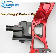 A Set Archery Aluminium alloy Red Dot Laser Sight Scope for Compound Recurve Bow Crossbow Slingshot Band electron