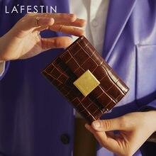 Lafestin 2020 новый кошелек бумажник трехслойный кожаный клатч