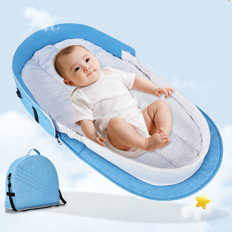 Portable Baby Bed Mobile Cradle Baby Nest Cot Newborn Multi-function Folding Bed Travel Crib With Toys Mosquito Net Infant Bed