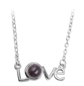 Подарок на день Святого Валентина, ожерелье с проекцией в форме сердца, ожерелье с проекционным кулоном в форме сердца, ювелирные изделия, подарок на память о любви