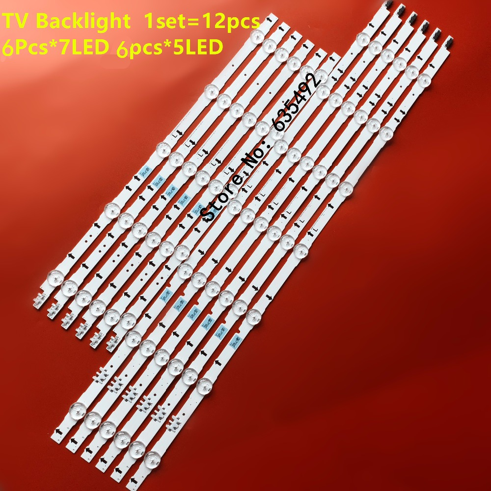 LED Backlight Strip 7+5 Lamp D4GE-550DCA-R3 D4GE-550DCB-R3 BN96-30431A N96-30432A For Samsung 55'' UE55H5500 UE55J5670 UE