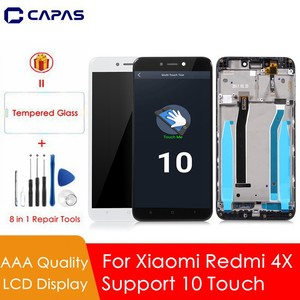 Image 1 - Grade AAA for Xiaomi Redmi 4X Global LCD Digitizer Display Assembly Complete Touch Full Screen TouchScreen Replacement Parts