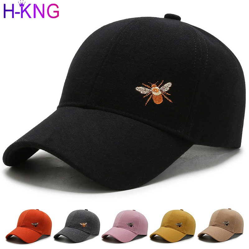 Constructive High Quality Embroidered Bee Baseball Cap Unisex Cotton Outdoor Sun Hat Adjustable Hip Hop Caps Classic Women Panel Sport Hat To Make One Feel At Ease And Energetic